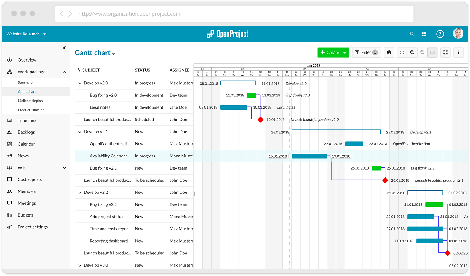 openproject screenshot gantt charts 02